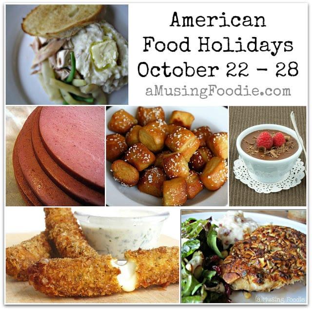 american food holidays, october food holidays