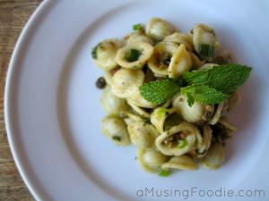 Orecchiette Pasta with Parmesan & Pistachios - (a)Musing Foodie