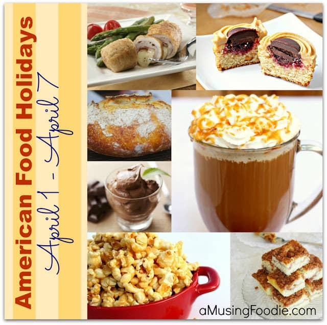 american food holidays, april food holidays, national food holidays, food holidays