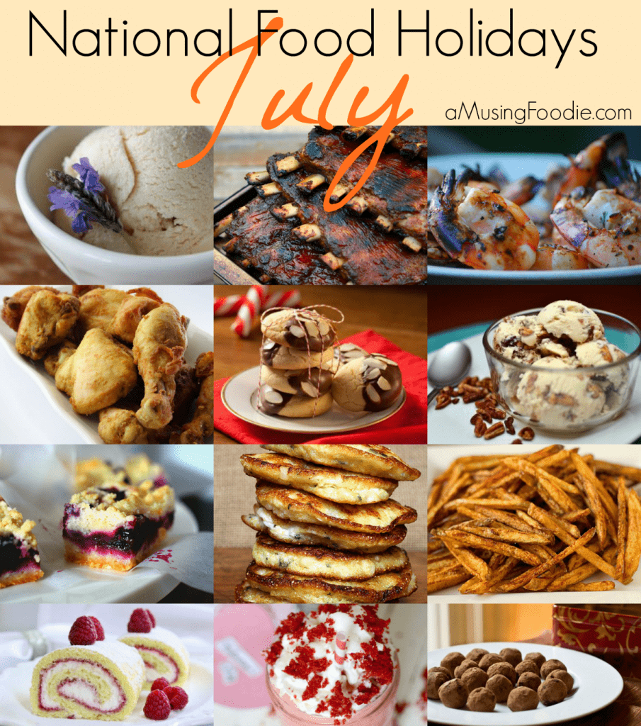 food holidays, july food holidays, national food holidays, american food holidays