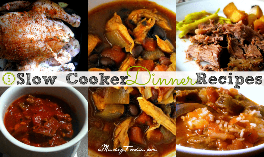 5 Slow Cooker Dinner Recipes