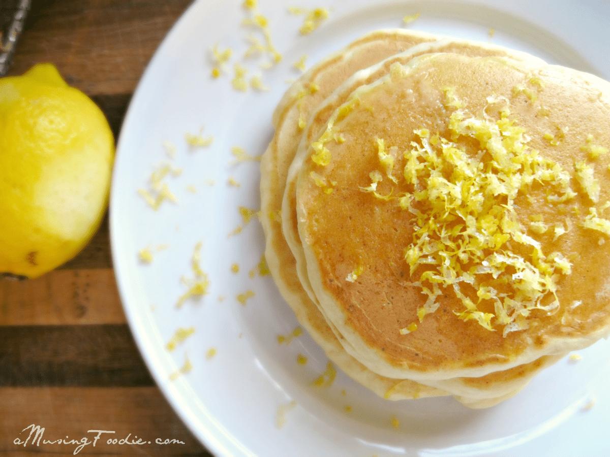 Lemon Ricotta Pancakes - (a)Musing Foodie