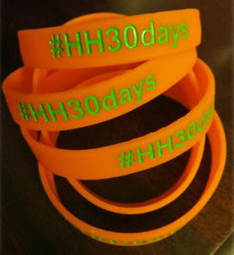 #HH30Days Real Food Challenge Wristband
